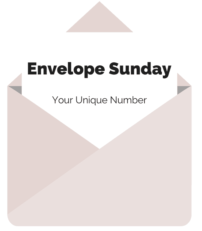 envelope sunday giving